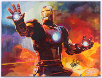 "Stan Lee Signed ""Iron Man"" 18x24 Original Painting On Canvas (JSA COA & Cargill COA) at PristineAuction.com"