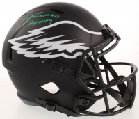 """Jalen Reagor Signed Eagles Full-Size Eclipse Alternate Speed Helmet Inscribed """"Fly Eagles Fly"""" (Beckett COA) at PristineAuction.com"""