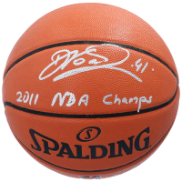 "Dirk Nowitzki Signed NBA Game Ball Series Basketball Inscribed ""2011 NBA Champs"" (Fanatics Hologram) at PristineAuction.com"