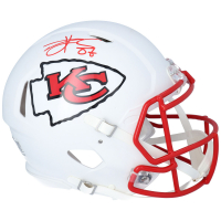 Travis Kelce Signed Chiefs Full-Size Authentic On-Field Matte White Speed Helmet (Fanatics Hologram) at PristineAuction.com