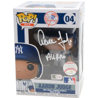 "Aaron Judge Signed Yankees #04 LE Funko Pop Vinyl Figure Inscribed ""All Rise"" (Fanatics Hologram) at PristineAuction.com"