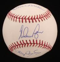 Nolan Ryan, Roger Clemens & Steve Carlton Signed OML Baseball (TriStar Hologram, MLB Hologram & Ryan Hologram) at PristineAuction.com