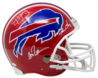 Jim Kelly, Thurman Thomas & Andre Reed Signed Bills Full-Size Authentic On-Field Helmet (JSA COA) at PristineAuction.com