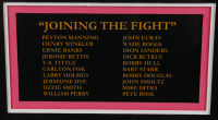 """Join Us In The Fight"" 34.5x39.5 Custom Framed Print Display Signed By (20) With Peyton Manning, Henry Winkler, Ernie Banks, Jerome Bettis (JSA ALOA & MLB Hologram) at PristineAuction.com"