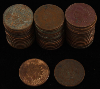 Lot of (50) 1¢ Indian Head Cent Coins at PristineAuction.com