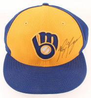Ryan Braun Signed Game-Used Brewers Baseball Hat (LOJO Hologram) at PristineAuction.com
