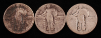 Lot of (3) Standing Liberty Quarters with 1921, & (2) 1928 at PristineAuction.com