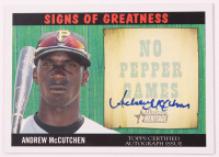 Andrew McCutchen 2005 Bowman Heritage Signs of Greatness #AM at PristineAuction.com