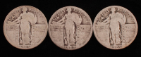 Lot of (3) Standing Liberty Quarters with 1925, 1926, & 1929 at PristineAuction.com