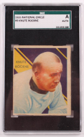 Knute Rockne 1935 National Chicle #9 (SGC Authentic) at PristineAuction.com