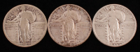 Lot of (3) Standing Liberty Quarters with 1927, 1929, & 1930 at PristineAuction.com