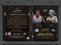 Michael Jordan & Larry Bird 2011-12 Exquisite Collection UD Black Dual Patch Autographs #LP2BJ at PristineAuction.com