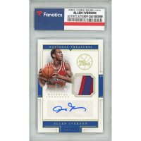 Allen Iverson 2015-16 Panini National Treasures Material Treasures Signatures Prime #MTSAI (Fanatics Encapsulated) at PristineAuction.com