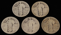 Lot of (5) Standing Liberty Quarters at PristineAuction.com