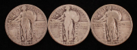 Lot of (3) Standing Liberty Quarters with 1926-S, 1927, & 1929 at PristineAuction.com