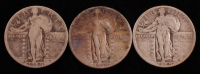 Lot of (3) Standing Liberty Quarters with 1929, 1929-S, & 1930 at PristineAuction.com