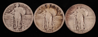 Lot of (3) Standing Liberty Quarters with 1926, 1927, & 1929-S at PristineAuction.com