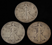 Lot of (3) Walking Liberty Silver Half Dollars With 1934, 1935, 1936-D at PristineAuction.com