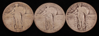 Lot of (3) Standing Liberty Quarters with 1927 & 1930 at PristineAuction.com