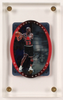 Michael Jordan 1996 UDA SPx Record Breaker #R1Autograph Card with Acrylic Display Case (UDA COA) at PristineAuction.com