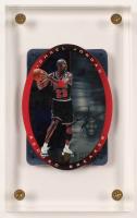 Michael Jordan 1996 UDA SPx Record Breaker #R1Autograph Card with Acrylic Display Case (UDA COA) at PristineAuction.com