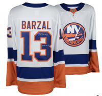 "Mathew Barzal Signed Islanders Jersey Inscribed ""2018 Calder"" (Fanatics Hologram) at PristineAuction.com"