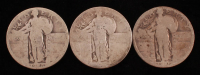 Lot of (3) Standing Liberty Quarters with 1925 & 1926 at PristineAuction.com