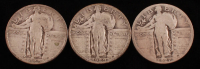 Lot of (3) Standing Liberty Quarters with 1927, 1929, & 1929-D at PristineAuction.com