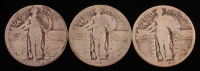 Lot of (3) Standing Liberty Quarters with 1926 at PristineAuction.com