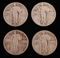 Lot of (4) Standing Liberty Quarters with 1925, 1926, & (2) 1927 at PristineAuction.com