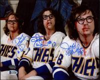 "Jeff Carlson, Steve Carlson, & David Hanson Signed ""Slap Shot"" 8x10 Photo (Schwartz COA) at PristineAuction.com"