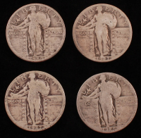 Lot of (4) Standing Liberty Quarters with 1925, (2) 1927, & 1929 at PristineAuction.com