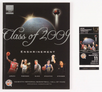 Lot of (2) Michael Jordan 2009 Hall of Fame Induction Year Items with Program & Ticket at PristineAuction.com
