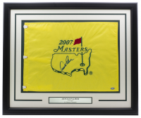 Arnold Palmer Signed 2007 Master's 21x27 Custom Framed Pin Flag Display (JSA LOA) at PristineAuction.com