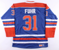 "Grant Fuhr Signed Oilers Jersey Inscribed ""HOF 03"" (Beckett COA) at PristineAuction.com"