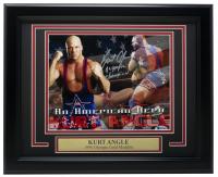 "Kurt Angle Signed WWE 11x14 Custom Framed Photo Inscribed ""Olympic Champion"" (Beckett COA) at PristineAuction.com"