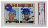 "Nolan Ryan Signed 1968 Topps #177 Rookie Stars Inscribed ""324 Wins"", ""HOF 99"", & ""7 No Hitters"" (PSA Encapsulated) at PristineAuction.com"