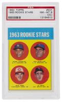 1963 Topps #537 Rookie Stars / Pedro Gonzalez RC / Ken McMullen RC / Al Weis RC / Pete Rose RC (PSA 8) (OC) at PristineAuction.com