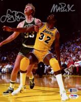 Magic Johnson & Larry Bird Signed 8x10 Photo (Beckett COA & PSA COA) at PristineAuction.com