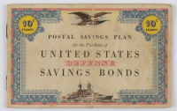 1941 United States Savings Bonds Booklet at PristineAuction.com