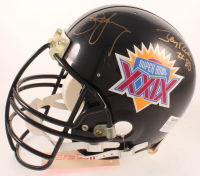 Jerry Rice & Steve Young Signed Super Bowl XXIX Full-Size Authentic On-Field Helmet (JSA COA) at PristineAuction.com