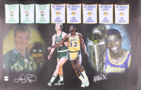 Larry Bird & Magic Johnson Signed 24x39 Canvas (JSA COA) at PristineAuction.com