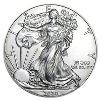 2020 American Silver Eagle $1 One Dollar Coin - Direct From US Mint! at PristineAuction.com