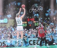 Larry Bird Signed Celtics 24x32 Canvas (JSA COA) at PristineAuction.com