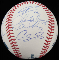 Yankees OML Baseball Team-Signed By (14) With Gary Sanchez, Aaron Boone, Aaron Hicks, Tyler Wade, Adam Warren (JSA ALOA) at PristineAuction.com