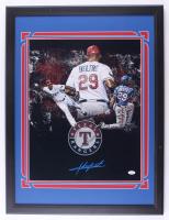 Adrian Beltre Signed Rangers 22x29 Custom Framed Photo Display (JSA Hologram) at PristineAuction.com