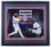 Ivan Rodriguez Signed Rangers 24x26 Custom Framed Photo Display (JSA Hologram) at PristineAuction.com