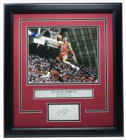 Michael Jordan Bulls 14x18 Custom Framed Photo Display at PristineAuction.com