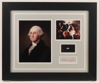 George Washington 19.5x23.5 Custom Framed Cut Display with (1) Hand-Written Word from Letter (JSA LOA Copy) at PristineAuction.com