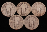 Lot of (5) Standing Liberty Quarters with (2) 1925 & (3) 1926 at PristineAuction.com